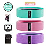 Oudort Resistance Booty Bands Set,Non-Slip Workout Exercise Bands for Legs and Butt Thick Hip Fabric...