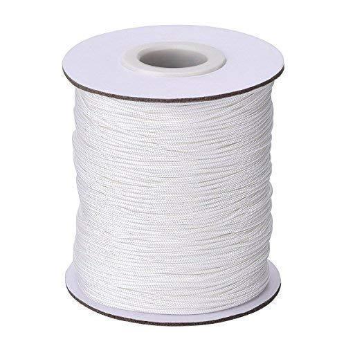 Trimming Shop 2mm Weiß Nylon Geflochtene Schnur für Aluminium Jalousien, Schattierungen - Weiß, 20 Meters