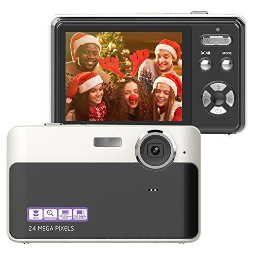 Fotocamera Digitale 24MP, 2,4 Pollici, TFT, LCD, Mini Videocamera, Point and Shoot, Per Bambini, Adolescenti e Principianti