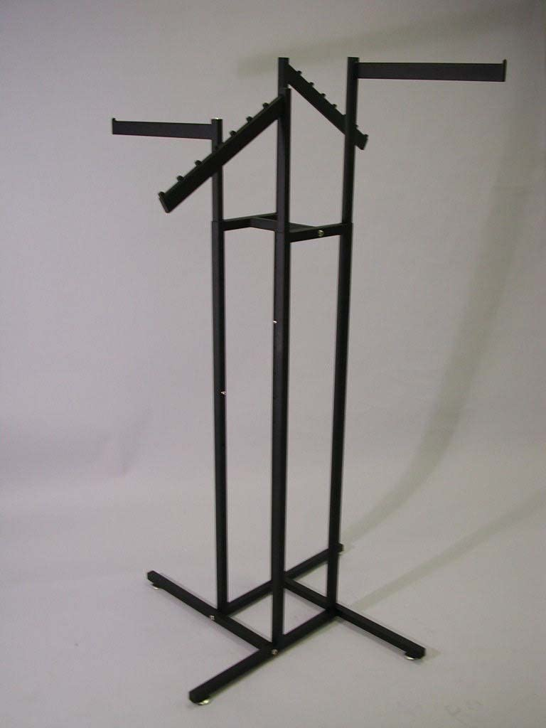 4 WAY SQUARE Credence TUBE RACK WITH 2021 model 2 FLAG ARMS AND STRAIGHT WATERFALL