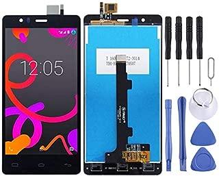 LDK Pantalla Juego de Repuesto for BQ Aquaris E5 (0982) (Negro) Pantalla LCD táctil digitalizador Asamblea Completa + Herramienta de reparación Completa (Color : Black)