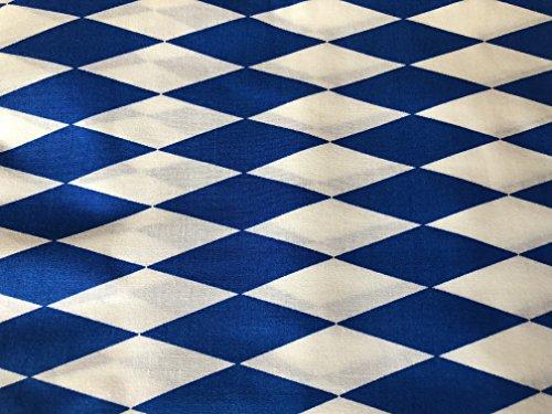 Ramona Lippert Dekostoff Stoff Bayernraute 5 Meter Blau Weiß Bayen Oktoberfest große Raute 70x24 mm