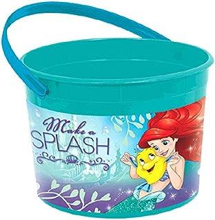 Enchanting Disney Ariel Dream Big Birthday Favor Container Party Favour, Green/Blue, Plastic , 6 1/4