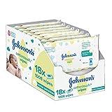 Johnson's Baby CottonTouch Toallitas con Algodón Auténtico , 56 x 18 toallitas
