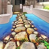 Pavimento su misura 3D Bella pista d'acqua nei WC in ardesia Bagno Soggiorno Centro commerciale Hotel Panel de Wall 250x175cm