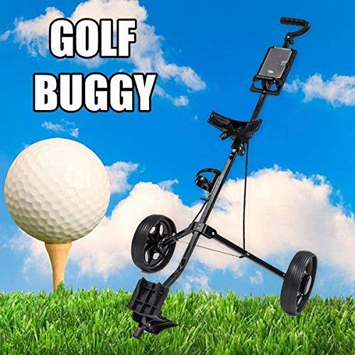 XBSLJ Golftrolley Zieh-Golfcarts Golf Trolley 2 Rad Faltbarer Golfwagen Einstellbarer Push Pull Golfwagen Aluminiumlegierung mit Bremse