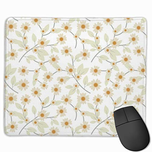 Mouse Pad Pressed Yellow Wildflowers Mousepads Non-Slip Rubber Gaming Mouse Pads Mat for Computers Laptop 9.8 Inch X 11.8 Inch