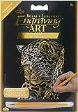 ROYAL BRUSH GOLMIN-103 Gold Foil Engraving Leopard in Tree Art Mini Kit, 5' by 7'