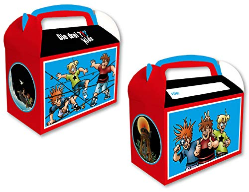DH-Konzept Geschenkboxen DREI ??? Kids 8 Stück // Partytüten DREI Fragezeichen 8 Stück