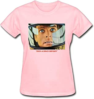 Refined 2001 A Space Odyssay Lobby Card Women's Cotton Short Sleeve T-Shirt