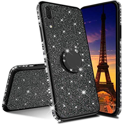 IMEIKONST Huawei P10 Plus Custodia Glitter Diamanti Scintillante Rotating Ring Stand Silicon Gel TPU Antiurto Protettiva Shell Sottile Copertura per...