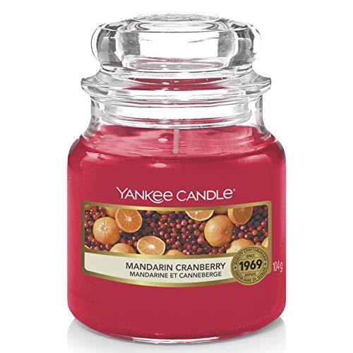 Yankee Candle Duftkerze im Glas (klein) | Mandarin Cranberry | Brenndauer bis zu 30 Stunden