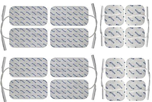 16 Elektroden-Pads 10x5cm und 5x5cm - Mischset für TENS und EMS - axion