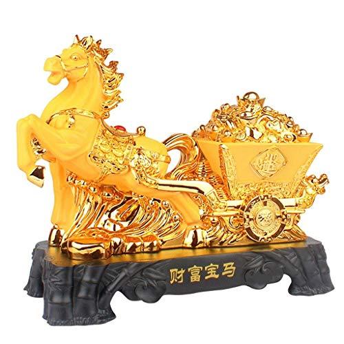 Skulptur Statue Pferdeskulptur Dekoration Handwerk Tierkreis-Pferd zum Erfolg des Büro-Wohnzimmers Glückliche Öffnungs-Geschenk-Handwerk-Verzierungen