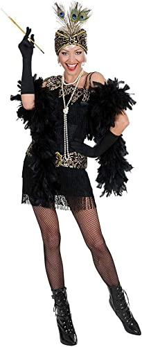 Horror-Shop Charleston Kleid SchwarzGold L