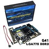 DF-FR DF-FR Carte mère Gigabyte Professionnelle Ordinateur de Bureau Carte mère D41 Mémoire DDR3 LGA 775 Processeur Dual Core Quad Core (Couleur: Multicolore)