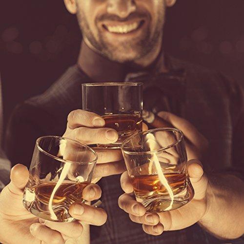Grinscard Whiskysteine 9 STK. Wiederverwendbar - Grau Speckstein 2 x 2 x 2 cm - Kühlsteine für Party Hausbar Reisen - 6