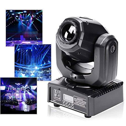 U`King Moving Head LED Discolicht 60W Kaleidoskop Lichteffekt Partylicht mit Beleuchtung Ring Bühnenlicht 8 Farben+4 Muster für Party Stage Bar Weihnachten Halloween