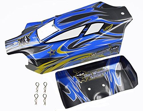 Carson 500800081 - X10EB Dirtwarr.Sport KarosserieundSpoiler