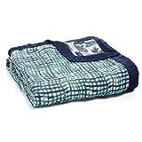 aden + anais Silky Soft Dream Blanket | 100% Viscose Bamboo Muslin Baby Blankets for Girls & Boys | Ideal Newborn Nursery & Crib Blanket | Unisex Toddler & Infant Boutique Bedding, Seaport-
