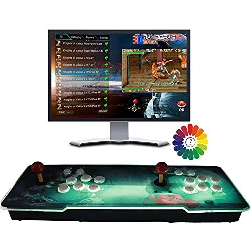 8000 Juegos clásicos Consola de Videojuegos, Pandora's Box 3D (Juegos 3D 200 en uno incluidos) HD 1280x720 Soporte multijugador, HDMI/VGA/USB