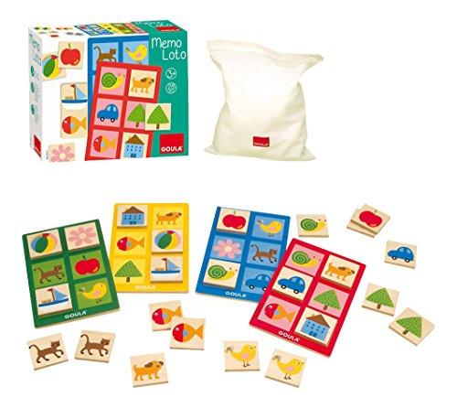 Goula D53413 MemoLotto, 28teilig Holzspielzeug für Kleinkinder, Ab 3 Jahren