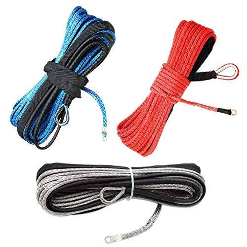 MINGMIN-DZ Cuerda de cabrestante Remolque De La Cuerda del Remolque del Coche De 6 Mmx15m 1/4x50ft con Cuerda Eléctrica De Cuerda Cuerda Cuerda Cuerda Cuerda Accesorios de cabrestante (Color : Red)