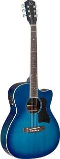 James Neligan 6 String BES-ACE TBB Bessies Series Auditorium Cutaway Acoustic-Electric Guitar-Transparent Blue Burst