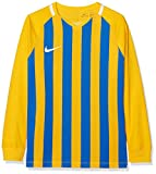 NIKE Kids' Striped Division III Football Long Sleeved t-Shirt, Unisex niños, Black/White/White/(Black), M