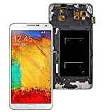 LCD Display Touch Screen Digitizer Assembly Replacement with Frame for Samsung Galaxy Note 3 Note3 N900 N9005 N9008 N900V/P N900A/T,Free Tools and Screen Protector (White)