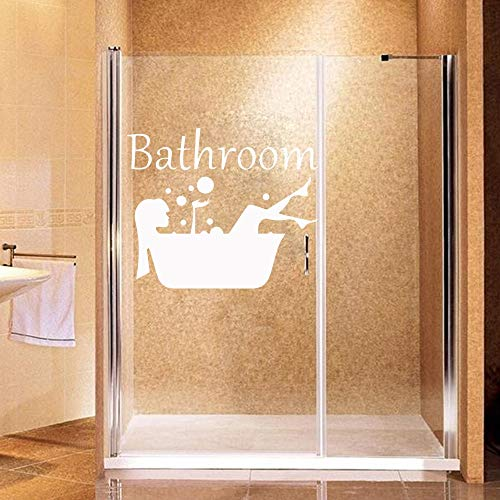 Ducha de vinilo pegatinas de pared para baño de vidrio Wallpaper ducha vinilo arte calcomanías 58cm X 48cm