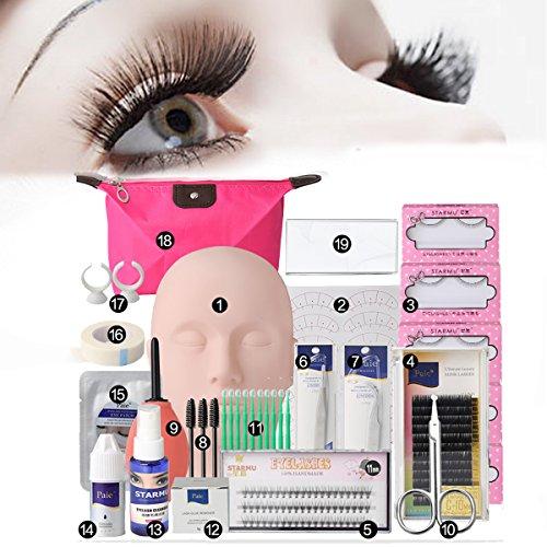 Mannequin Kopf, Luckyfine Übungskopf Trainingsköpfe für Praxis Make Up Eye False Wimpern Wimpernverlängerung Lip Practice Modell