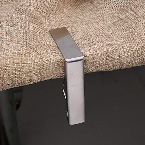 Raguso Clips de mantel de acero inoxidable Clips para mantel de barbacoa