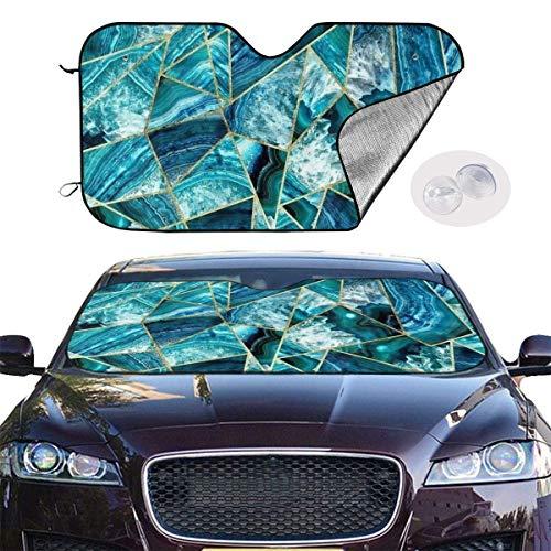Turquesa Azul Marino ágata geométrica Triángulos del Parabrisas Parasol Coche Universal sombrillas UV Sun Reflector de Calor