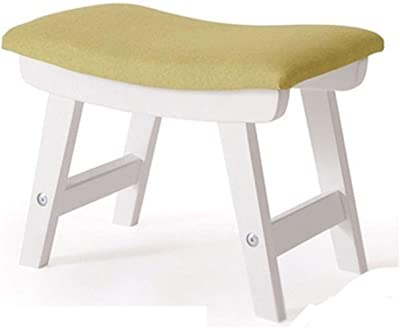 Footstool Stool MDF Fabric Ottomans for Room Kids Furniture Home Door Change Shoes Footstool MDF Bench Chair (Color : D)