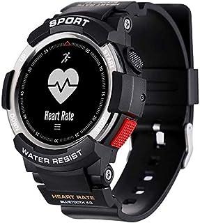 WJFQ Reloj Inteligente Pulsera Inteligente Reloj del Deporte de Bluetooth rastreador de Ejercicios con iOS Android Hombres Mujeres for Hombre y Mujer Unisex Adulta (Color : Dark Gray)