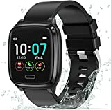 L8star Fitness Tracker, Smart Watch Heart Rate Monitor,Sleep Monitor,Calorie Counter, 1.3'' Color Touch Screen Activity Tracker with 6 Sports Mode for Women Men, Android iOS