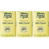 HENO DE PRAVIA - Jabón natural, lote de 3 piezas, 3X115 g