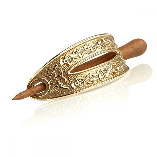 Staffordshire Hoard Rosewood - keltische Haarspange aus Bronze & Palisander