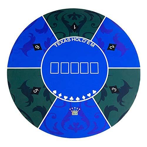 Tapete de mesa de póquer, tablero de póquer plegable con bolsa de transporte Cubierta de póquer portátil Topper 8 jugadores para juegos de mesa de rompecabezas de póquer, diseño de juego de cartas