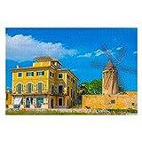 Windmill Palma Mallorca Spai - Puzzle de 1000 piezas para adultos y niños a partir de 12 años