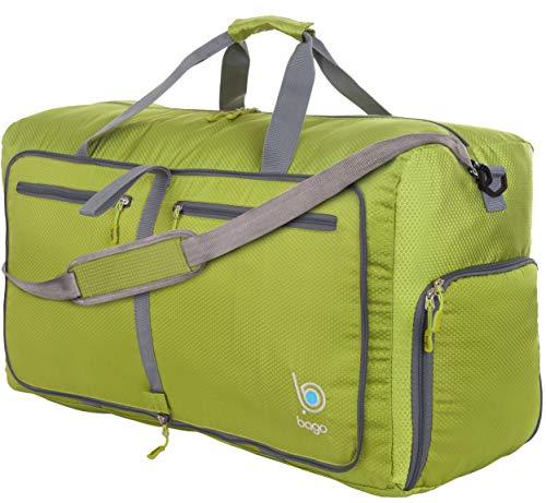 Bago Borsone Per Viaggio Bagaglio Palestra Sport Campeggio - Leggero e Pieghevole in se stessa. Borsone (Grande Taglia  27'', Verde)