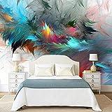 3D Fotomurales Papel pintado Plumas de colores 250(W)X175(H) cm Mural Salón Dormitorio Despacho Pasillo Decoración murales decoración de paredes moderna