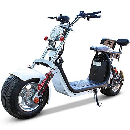 Takmeway Elettrica del Motociclo 1500W / 2000W 12A / 20A Bici elettrica 8inch Fat Tire Scooter Elettrico Veicolo di Pressione idraulica Moto Freno a Disco per Adulti,2000W12A