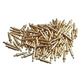 Yibuy 100Piece Gold Plated Spring Loaded Test Probe Thimble Pogo Pin 2mm Pin