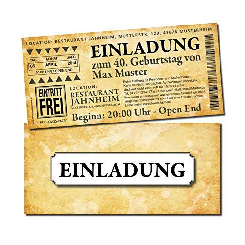 Eintrittskarte Einladung Einladungskarte Geburtstag 3