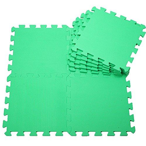 quanjucheer 30 x 30 cm 10 unids/set Eva enclavamiento gimnasio garaje anti fatiga suelos niños juego esteras hogar ejercicio verde