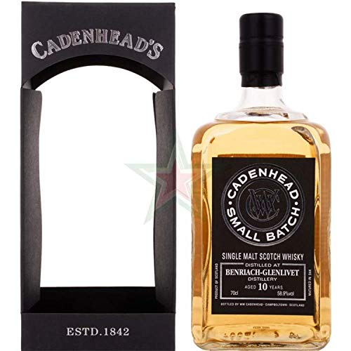 Cadenhead's BENRIACH-GLENLIVET 10 Years Old SMALL BATCH Single Malt Scotch Whisky 2006 (1 x 0.7 l)