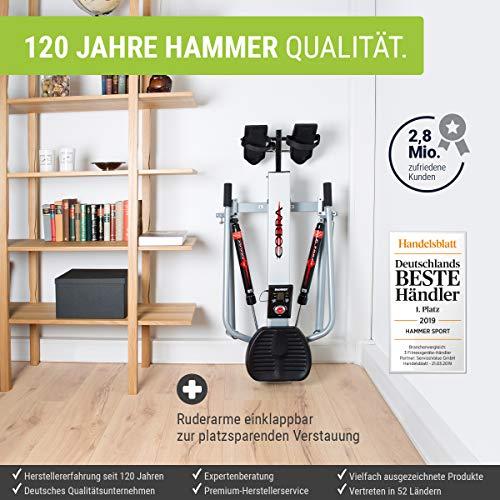 Hammer Rudergerät Rower Cobra, 150 x 166 x 50 cm Bild 3*