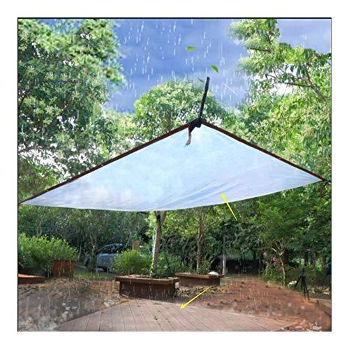 SHIJINHAO Lonas Impermeables Exterior,con Agujeros De Metal Lona Transparente Terraza Pantalla De Lluvia Aislamiento Térmico Anti-UV PE Láminas De Plástico, 23 Tamaños (Color : Claro, Size : 2X3M)